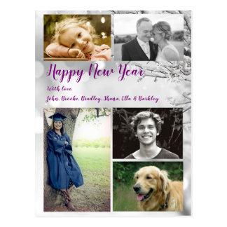 Cumprimento grande da foto do cartão do feliz ano
