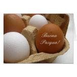 cumprimento italiano do ovo da páscoa cartao