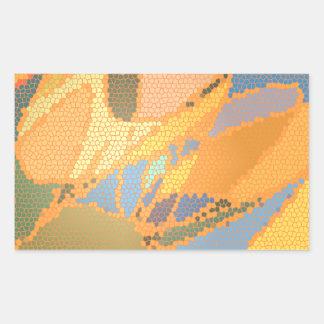Cumprimento moderno do teste padrão do vitral adesivo retangular