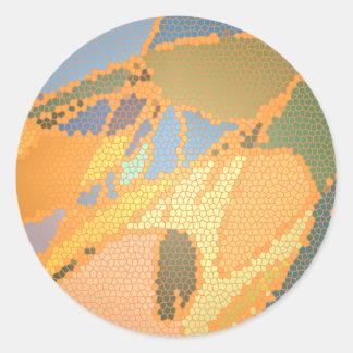 Cumprimento moderno do teste padrão do vitral adesivo