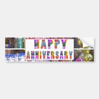 Cumprimentos: Aniversário feliz de HappyANNIVERSAR Adesivo