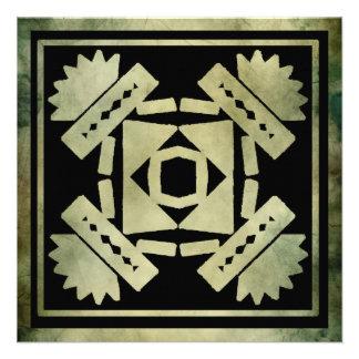cumprimentos antigos do quadrado do símbolo convite personalizado