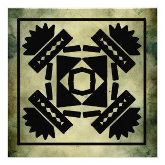 cumprimentos antigos do quadrado do símbolo convite personalizados