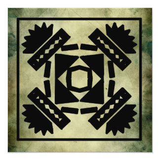 cumprimentos antigos do quadrado do símbolo convite quadrado 13.35 x 13.35cm