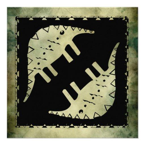 cumprimentos antigos do quadrado do símbolo convites