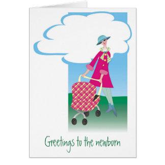 Cumprimentos ao recém-nascido cartões