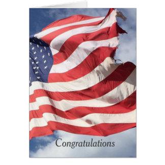Cumprimentos C dos parabéns da bandeira da Cartão