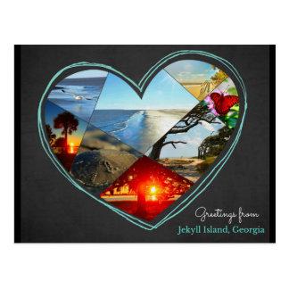 Cumprimentos cartão do ♥ da ilha de Jekyll,