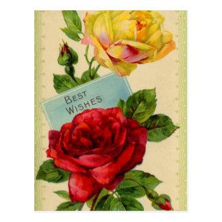 Cumprimentos cartão do vintage
