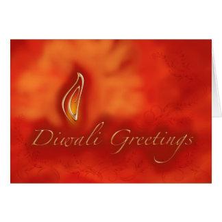 Cumprimentos claros de Diwali Devali - cartão