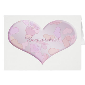 Cumprimentos. coração cartão