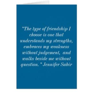 Cumprimentos da amizade cartão comemorativo