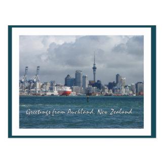 Cumprimentos da cidade de Auckland, cartão de Nova