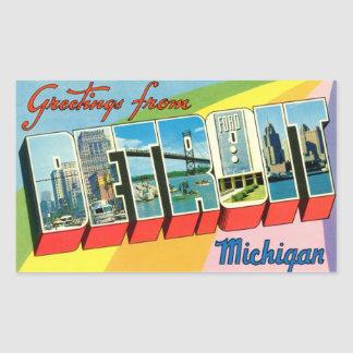 Cumprimentos da etiqueta de Detroit!