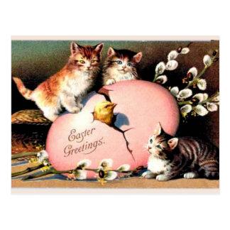 Cumprimentos da páscoa do vintage, cartão postal