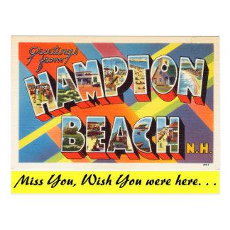 Cumprimentos da praia de Hampton Cartão Postal
