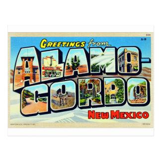 Cumprimentos de Alamogordo, cartão da letra do