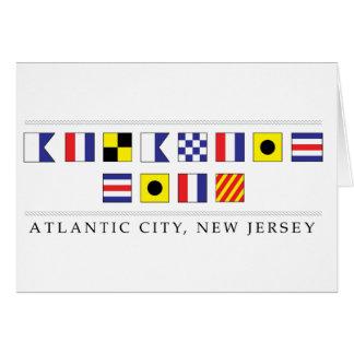 Cumprimentos de Atlantic City Cartão Comemorativo