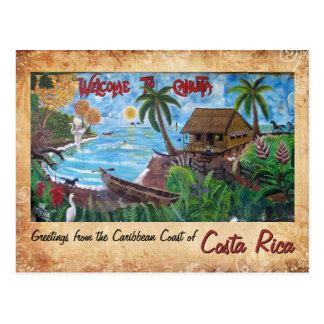 Cumprimentos de Cahuita, Costa Rica Cartao Postal