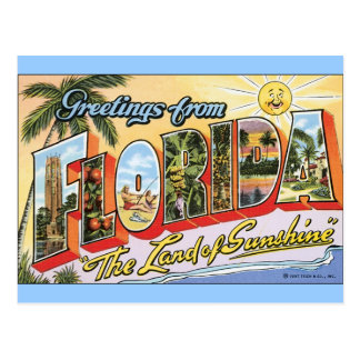 Cumprimentos de Florida - viagens vintage Cartao Postal