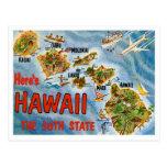 Cumprimentos de Havaí Cartoes Postais