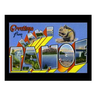 Cumprimentos de Lake Tahoe Cartão Postal
