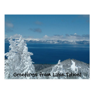 Cumprimentos de Lake Tahoe! Cartão Postal