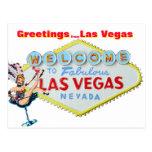 Cumprimentos de Las Vegas Cartao Postal