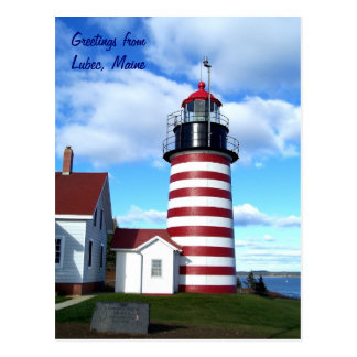 Cumprimentos de Lubec Maine Cartões Postais