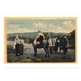 Cumprimentos de Romania, cartão enviado em 1910