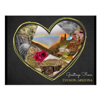 Cumprimentos de Tucson, cartão do ♥ da arizona