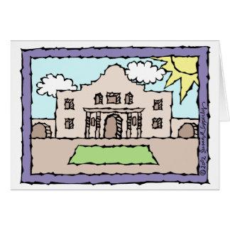 Cumprimentos do Alamo San Antonio Texas Cartão Comemorativo