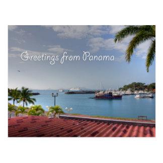 Cumprimentos do canal do Panamá, cartão