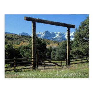 Cumprimentos do cartão colorido de Colorado