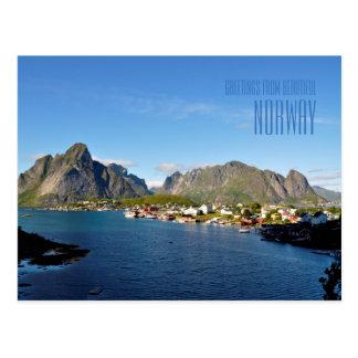Cumprimentos do cartão com fotos bonito de Noruega