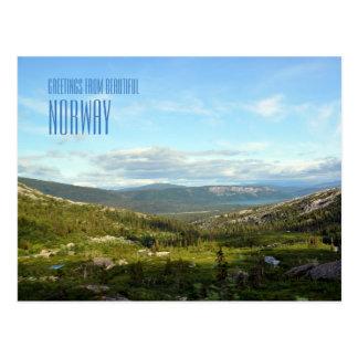 Cumprimentos do cartão com fotos da paisagem de