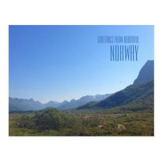Cumprimentos do cartão com fotos das montanhas de