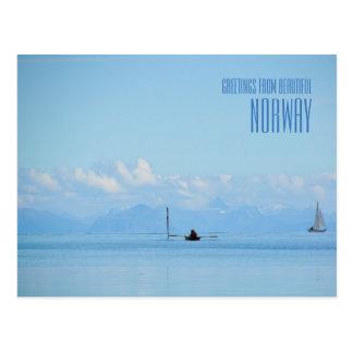 Cumprimentos do cartão com fotos do oceano de