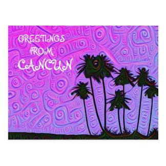 Cumprimentos do cartão de Cancun