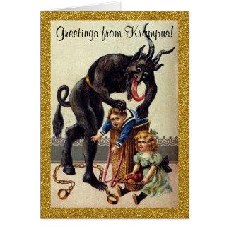 Cumprimentos do cartão de cartões de natal de