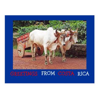 Cumprimentos do cartão de Costa Rica (&oxcart dos  Cartões Postais