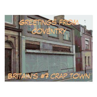 Cumprimentos do cartão de Coventry