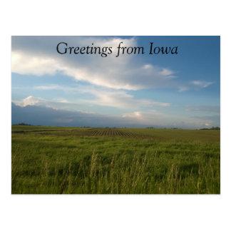 Cumprimentos do cartão de Iowa