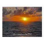 Cumprimentos do cartão de Key West Cartao Postal