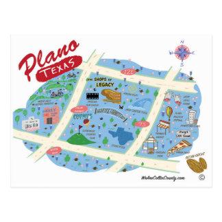 Cumprimentos do cartão de Plano Texas Cartão Postal