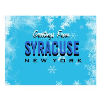 Cumprimentos do cartão de Siracusa New York