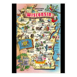 Cumprimentos do cartão de Wisconsin