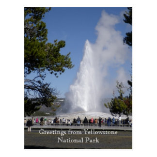 Cumprimentos do cartão do parque nacional de