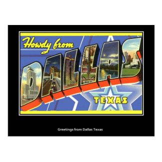 Cumprimentos do cartão do vintage de Dallas
