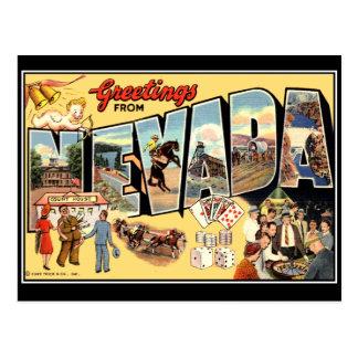 Cumprimentos do cartão do vintage de Nevada